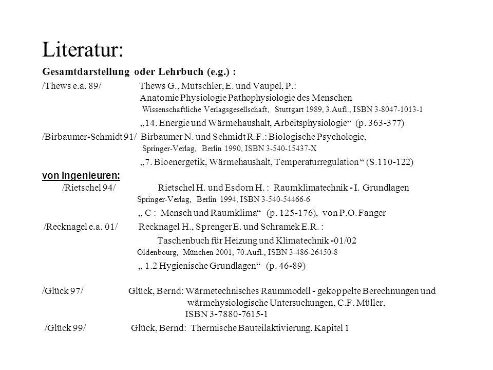 Literatur: Gesamtdarstellung oder Lehrbuch (e.g.) :