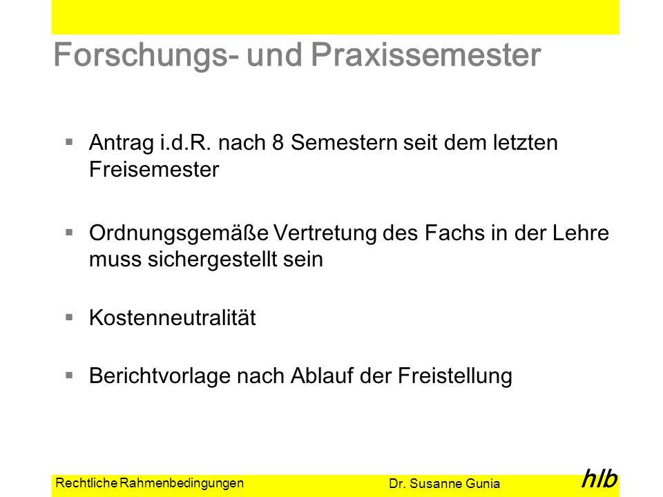 Forschungs- und Praxissemester