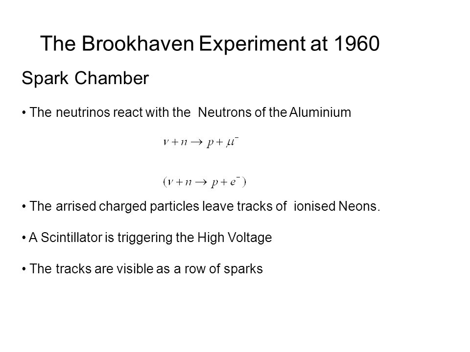 The Brookhaven Experiment at 1960