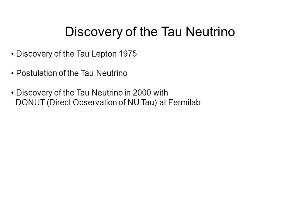 Discovery of the Tau Neutrino