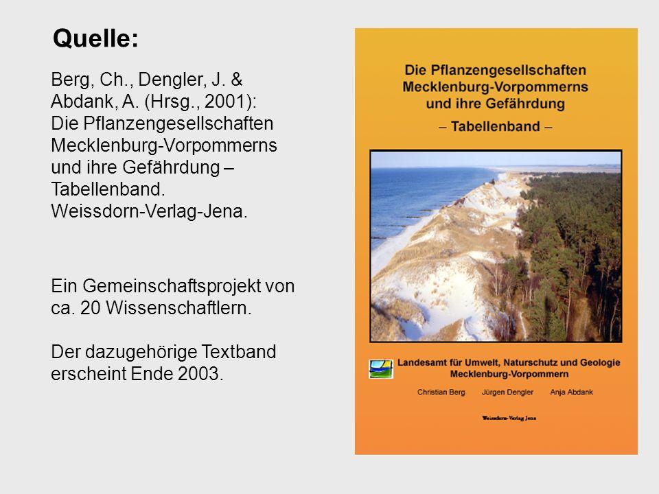 Quelle: Berg, Ch., Dengler, J. & Abdank, A. (Hrsg., 2001):