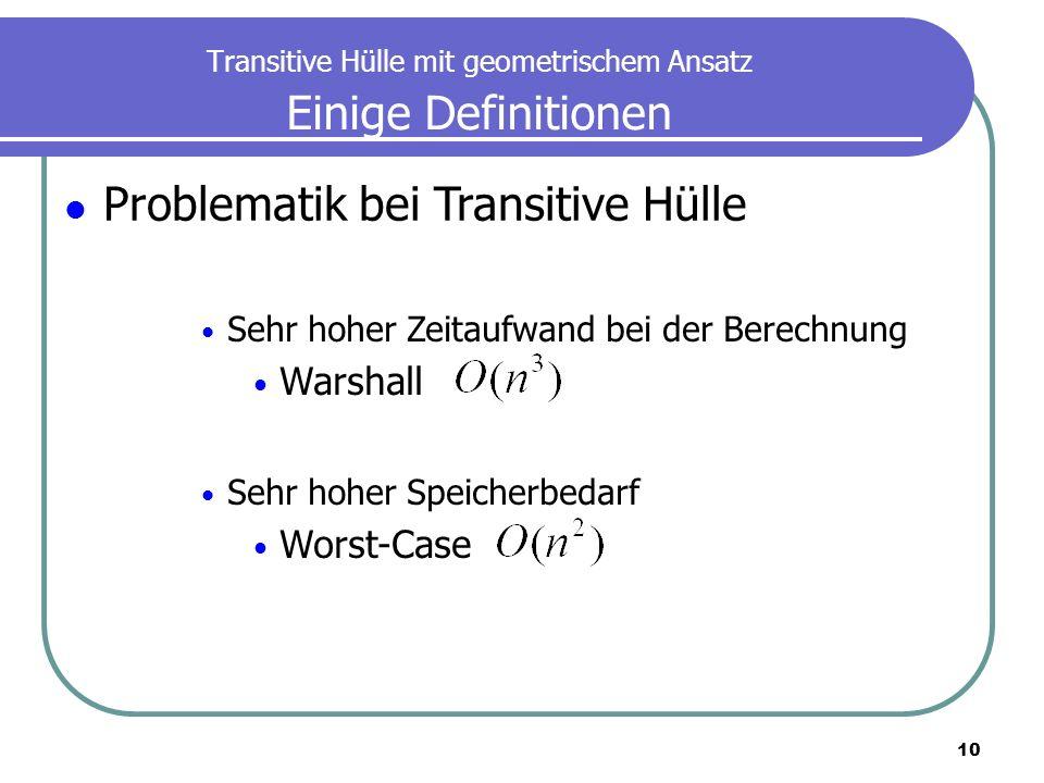 Transitive Hülle mit geometrischem Ansatz Einige Definitionen