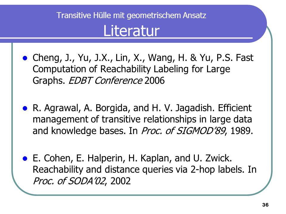Transitive Hülle mit geometrischem Ansatz Literatur