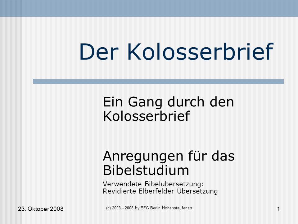 (c) 2003 - 2008 by EFG Berlin Hohenstaufenstr
