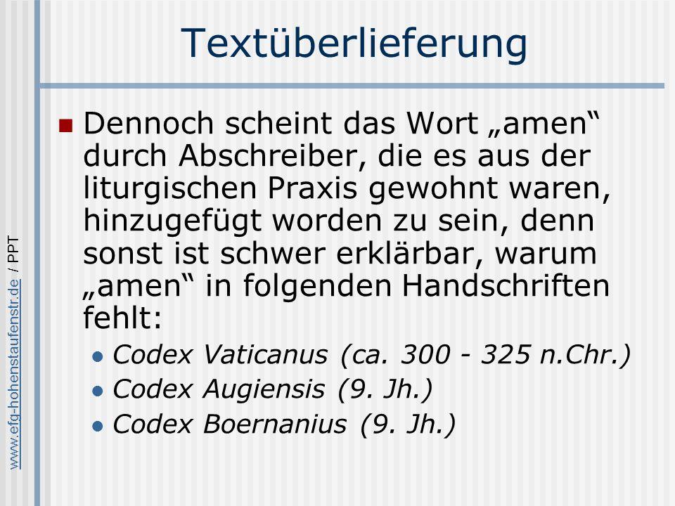 Textüberlieferung