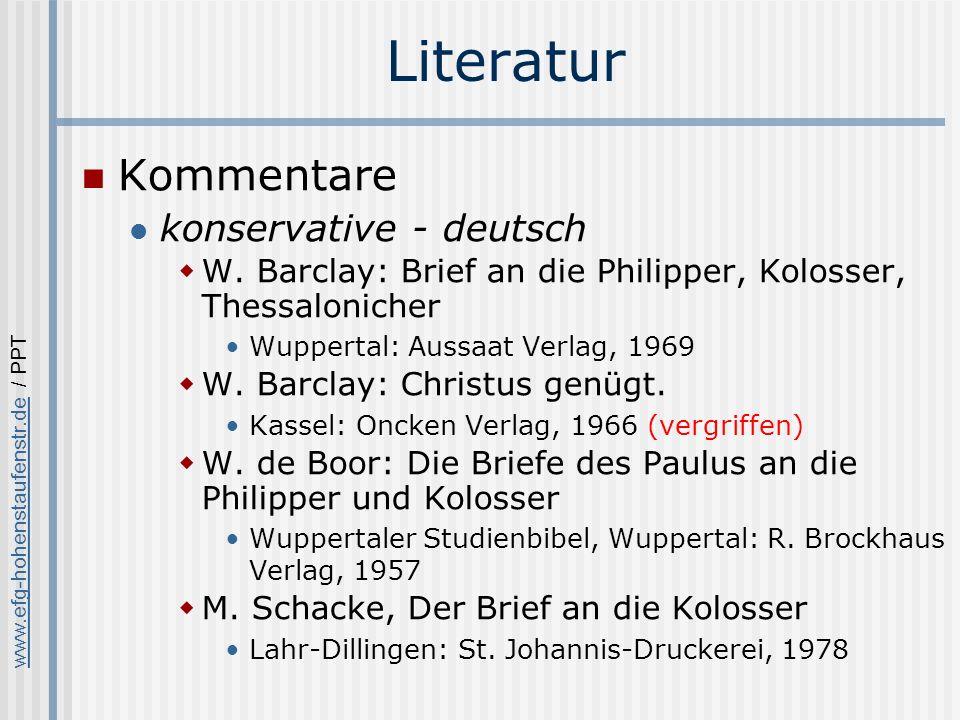 Literatur Kommentare konservative - deutsch