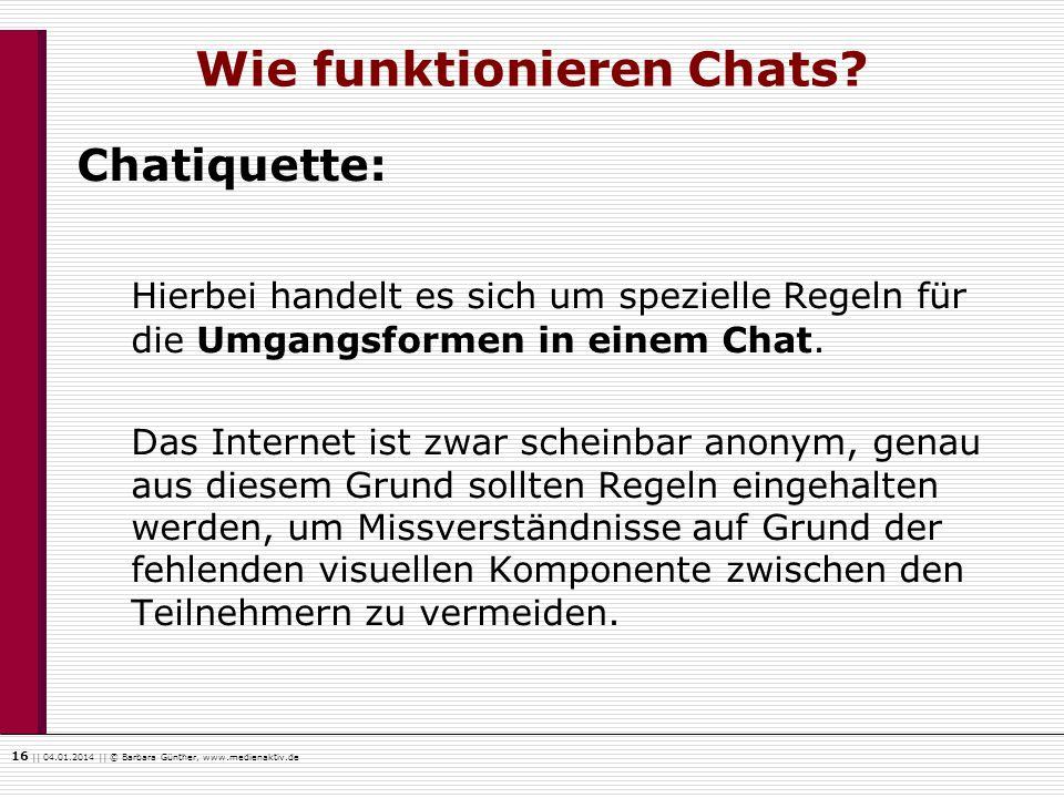 Wie funktionieren Chats