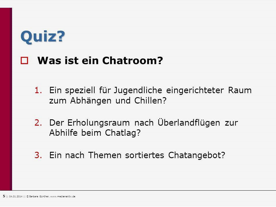 Quiz Was ist ein Chatroom