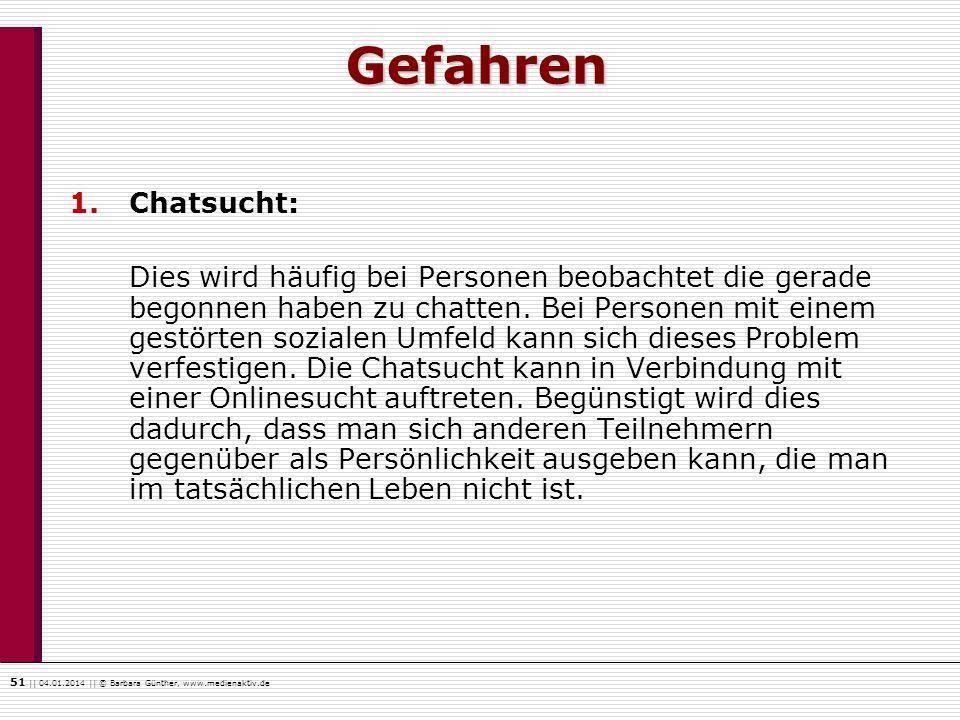 Gefahren Chatsucht: