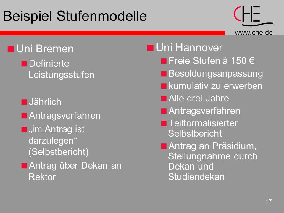 Beispiel Stufenmodelle