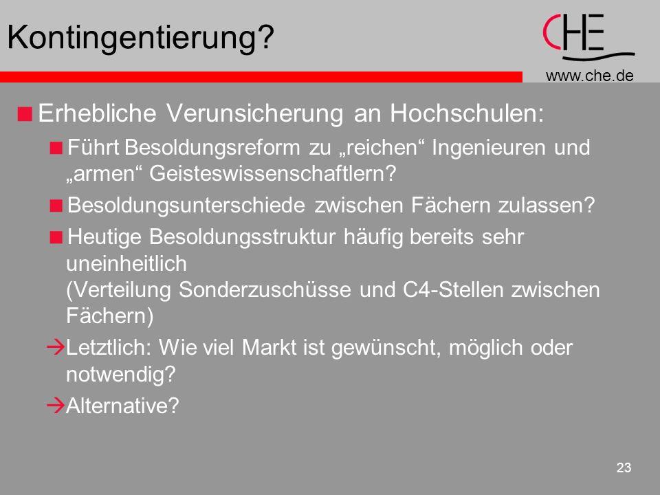 Kontingentierung Erhebliche Verunsicherung an Hochschulen: