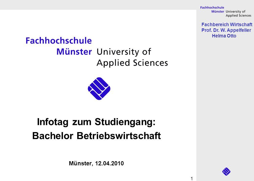 Infotag zum Studiengang: Bachelor Betriebswirtschaft