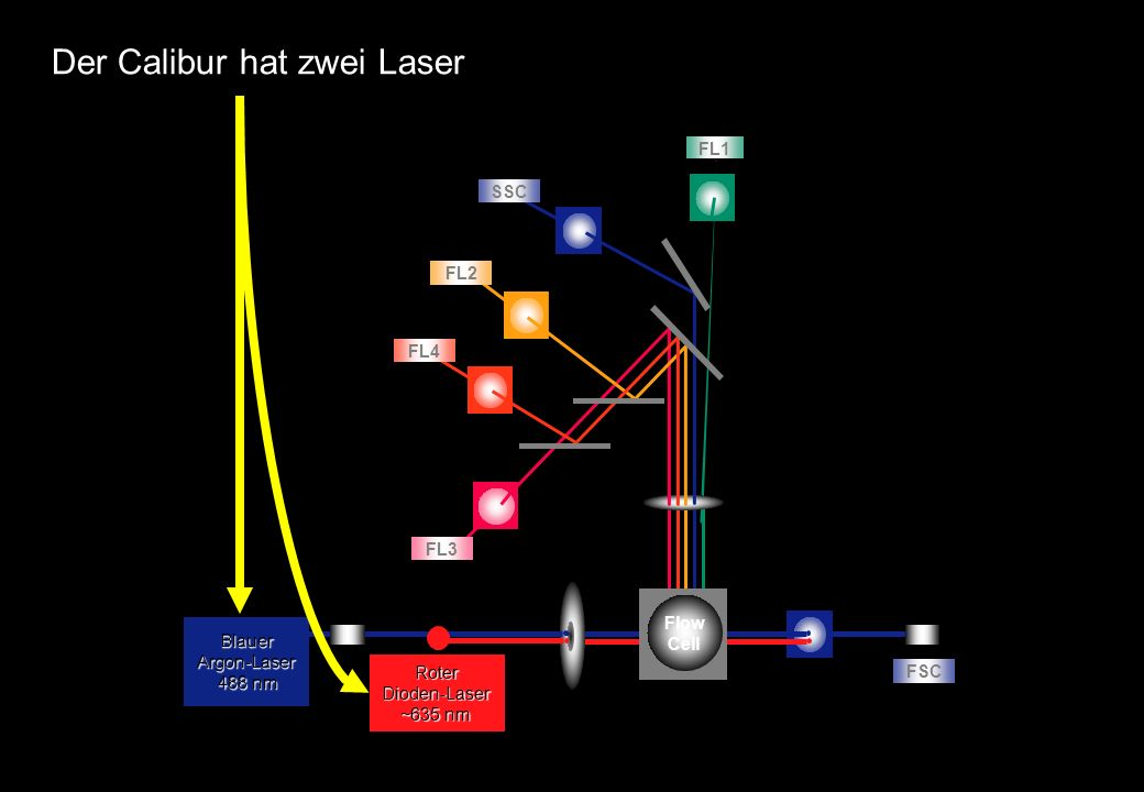 Der Calibur hat zwei Laser