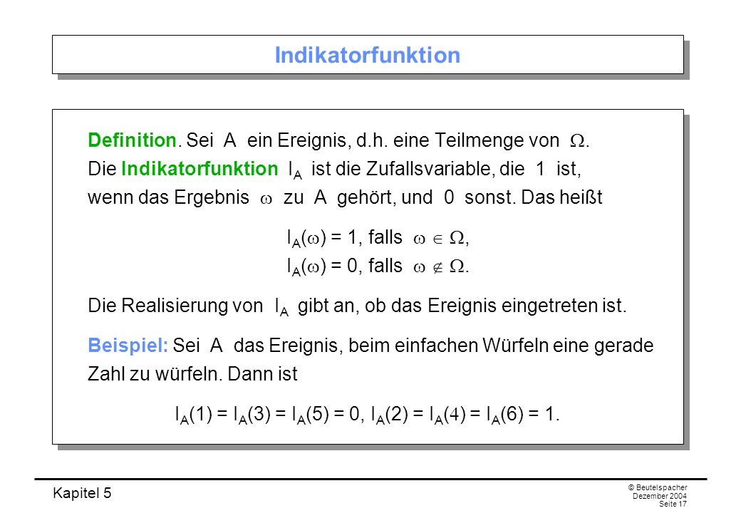 Indikatorfunktion