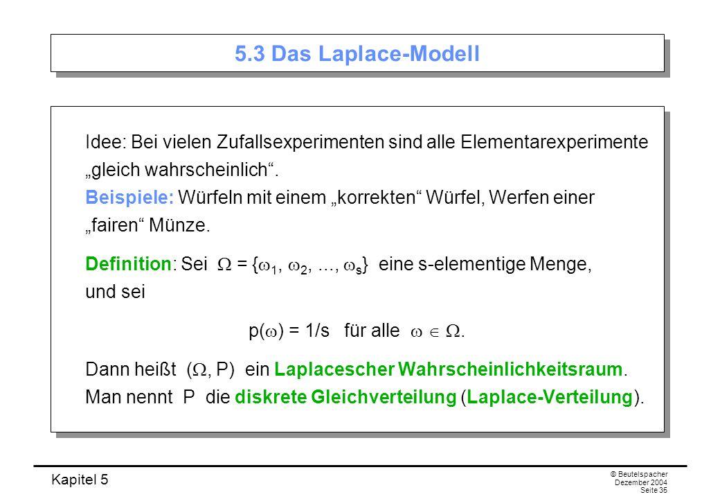 5.3 Das Laplace-Modell