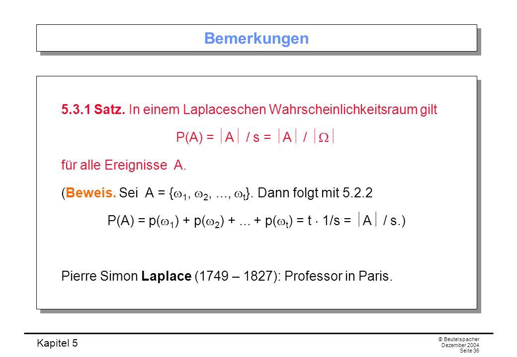 P(A) = p(w1) + p(w2) + ... + p(wt) = t  1/s = A / s.)