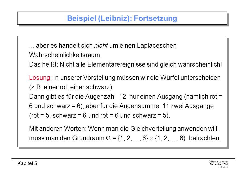 Beispiel (Leibniz): Fortsetzung