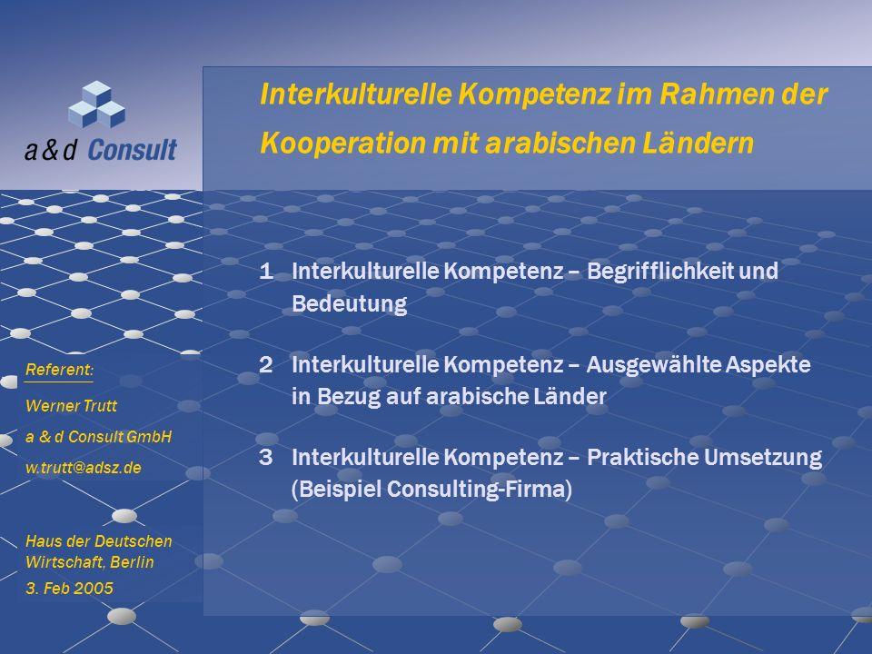 Interkulturelle Kompetenz im Rahmen der Kooperation mit arabischen Ländern