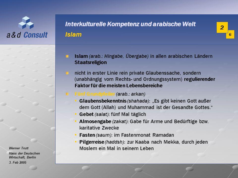Interkulturelle Kompetenz und arabische Welt Islam