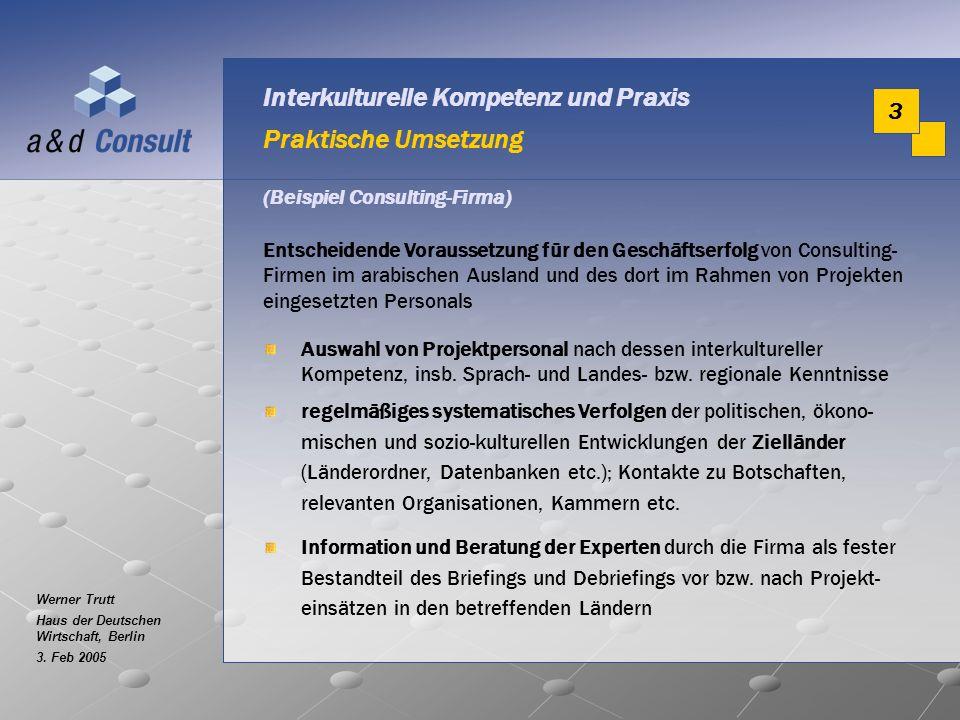 Interkulturelle Kompetenz und Praxis Praktische Umsetzung
