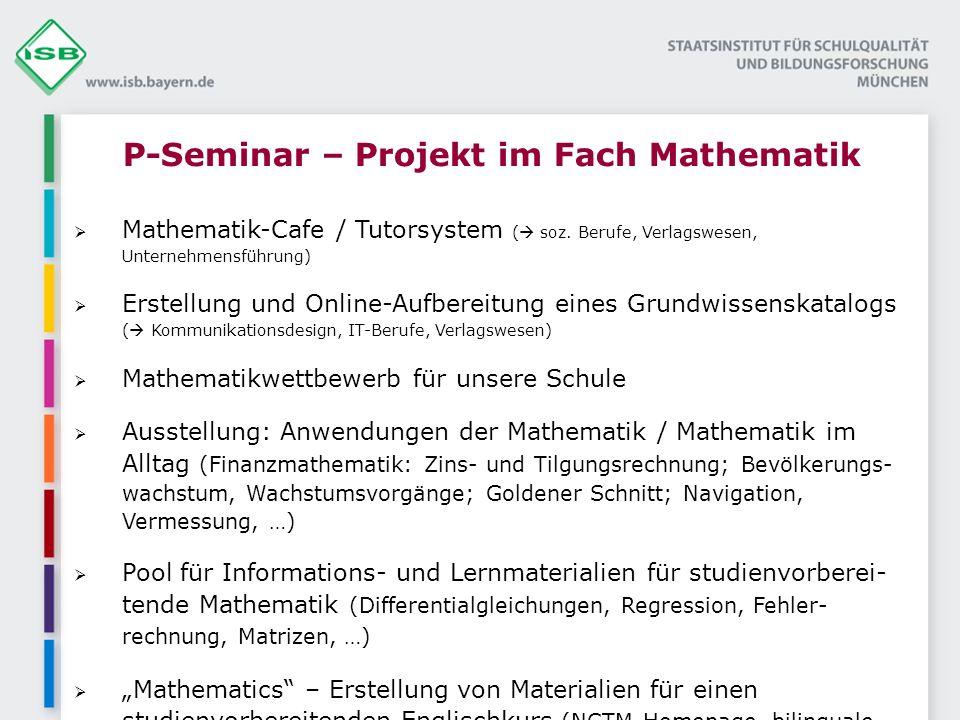 P-Seminar – Projekt im Fach Mathematik