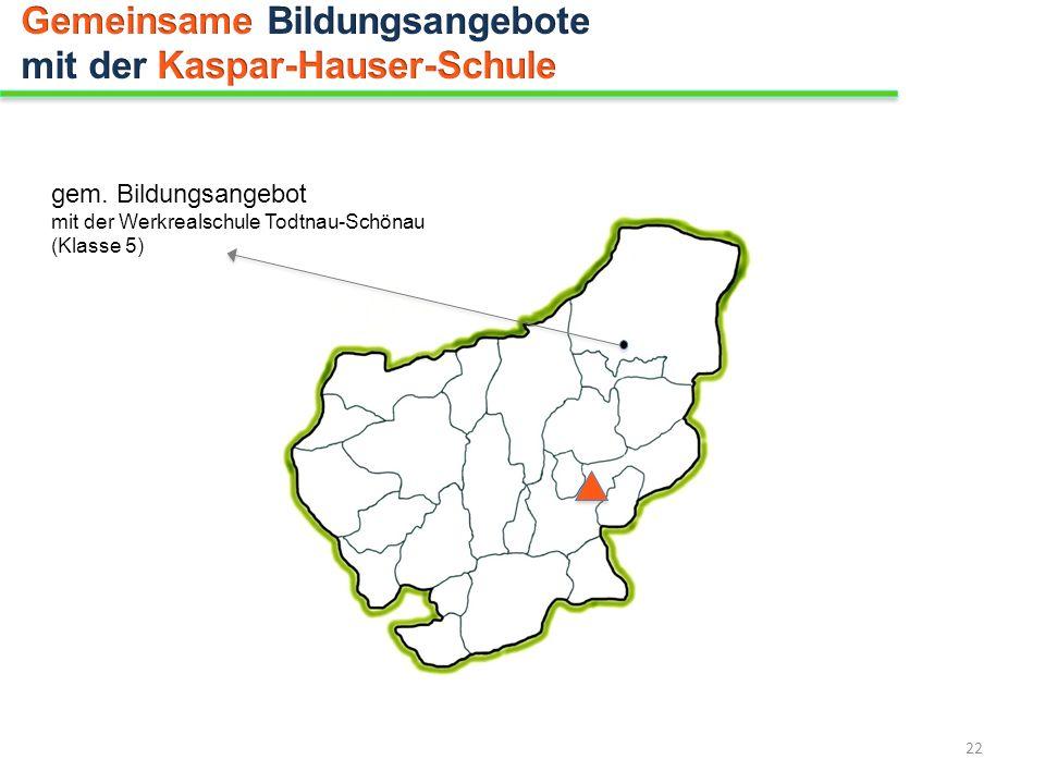 Gemeinsame Bildungsangebote mit der Kaspar-Hauser-Schule