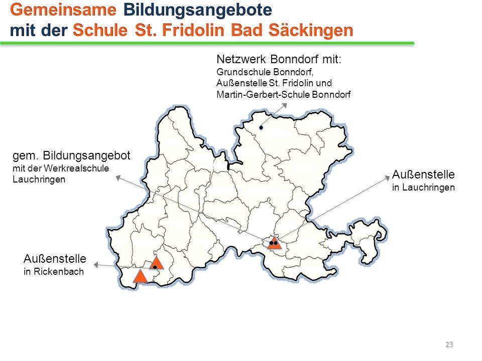 Gemeinsame Bildungsangebote mit der Schule St. Fridolin Bad Säckingen