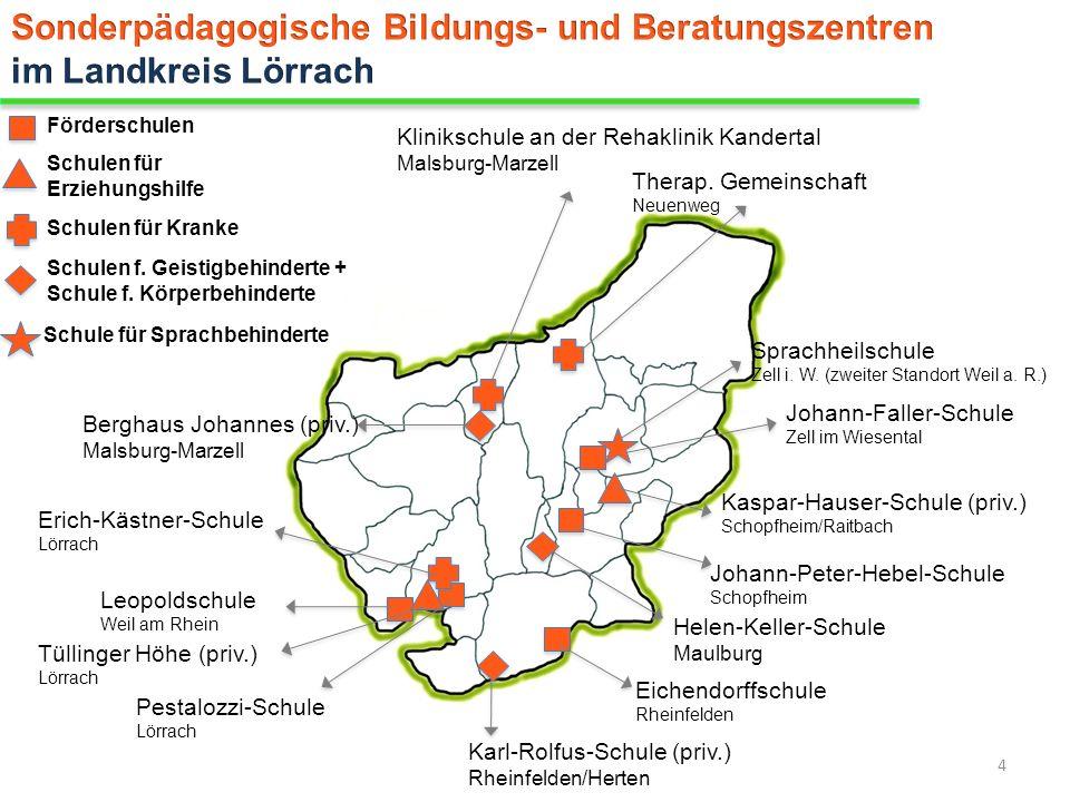 Sonderpädagogische Bildungs- und Beratungszentren im Landkreis Lörrach