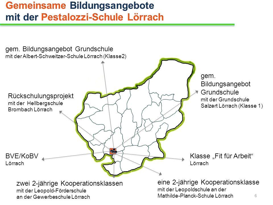 Gemeinsame Bildungsangebote mit der Pestalozzi-Schule Lörrach