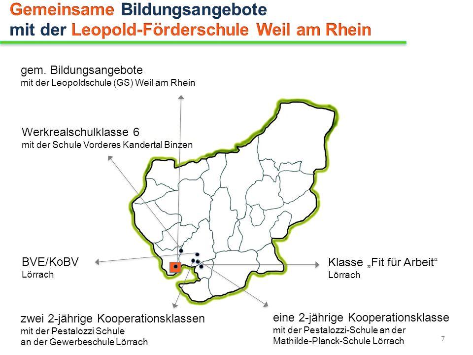 Gemeinsame Bildungsangebote mit der Leopold-Förderschule Weil am Rhein