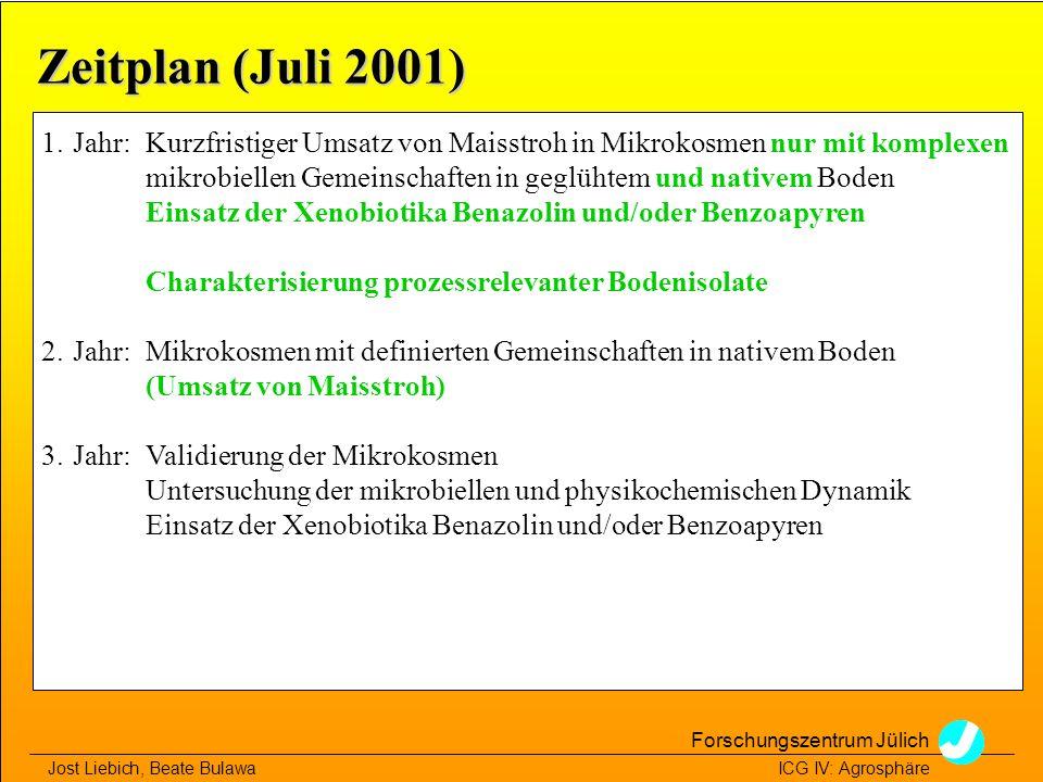 Zeitplan (Juli 2001)