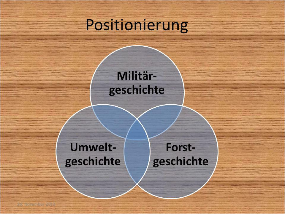 Positionierung Militär-geschichte Forst-geschichte Umwelt-geschichte