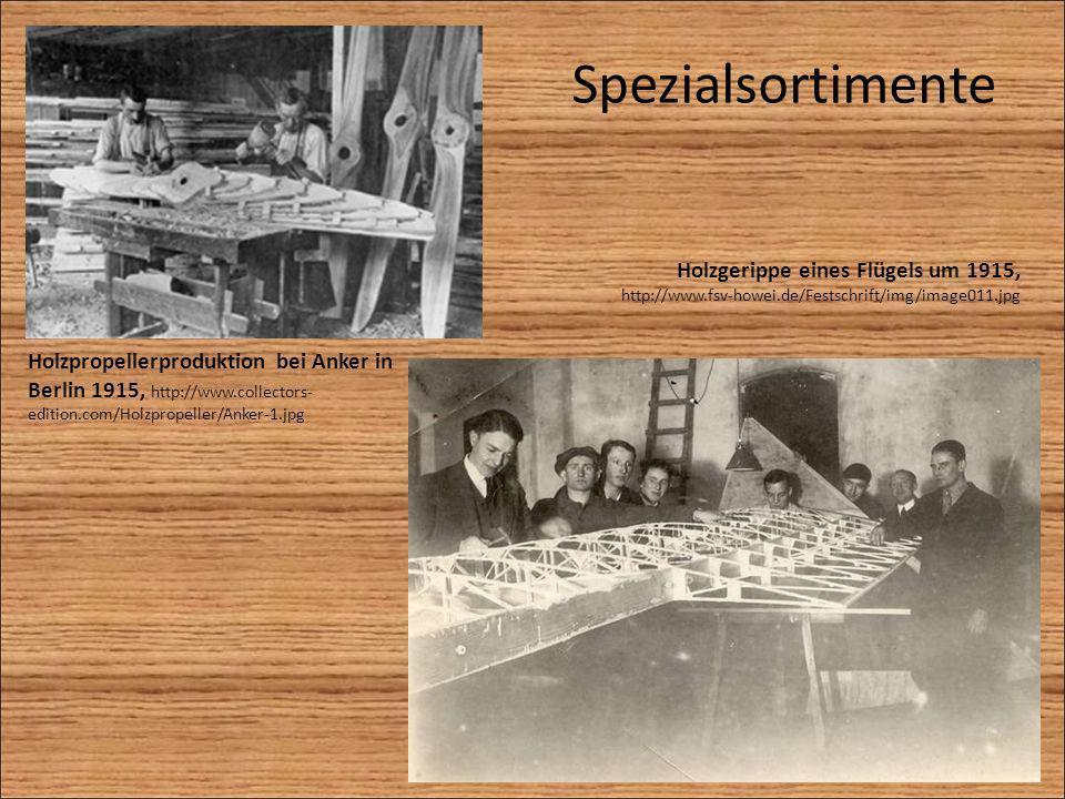 Spezialsortimente Holzgerippe eines Flügels um 1915, http://www.fsv-howei.de/Festschrift/img/image011.jpg.