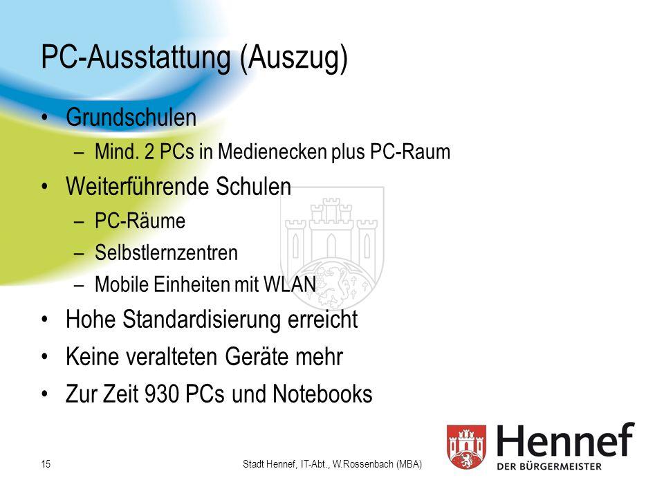 PC-Ausstattung (Auszug)