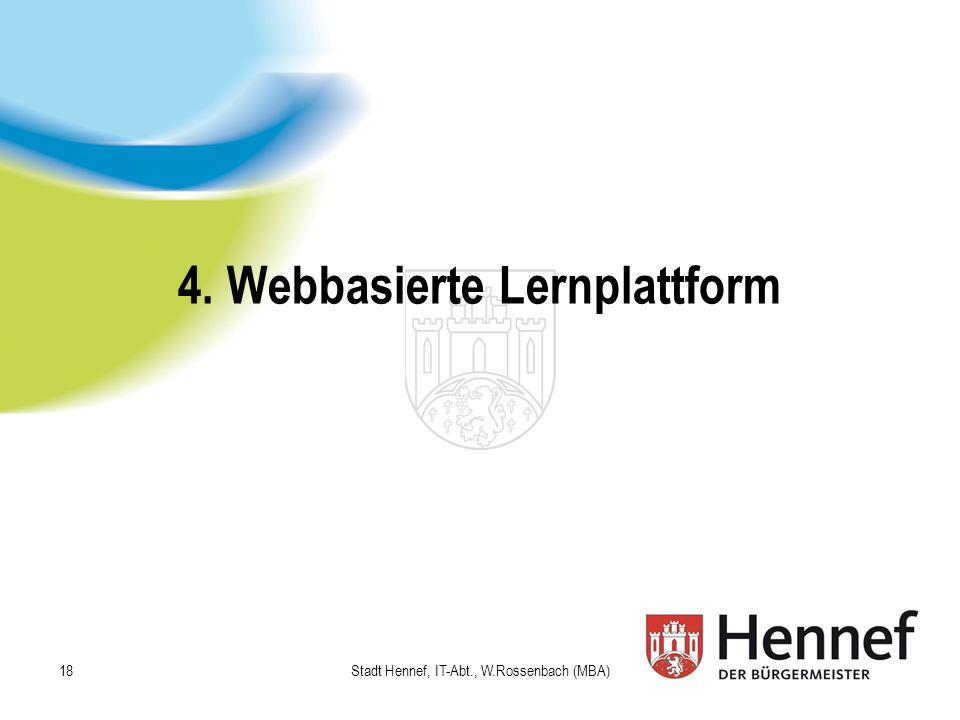 4. Webbasierte Lernplattform
