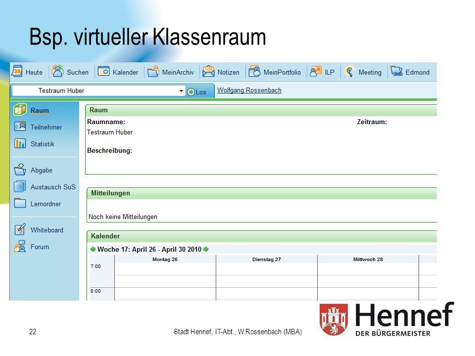 Bsp. virtueller Klassenraum