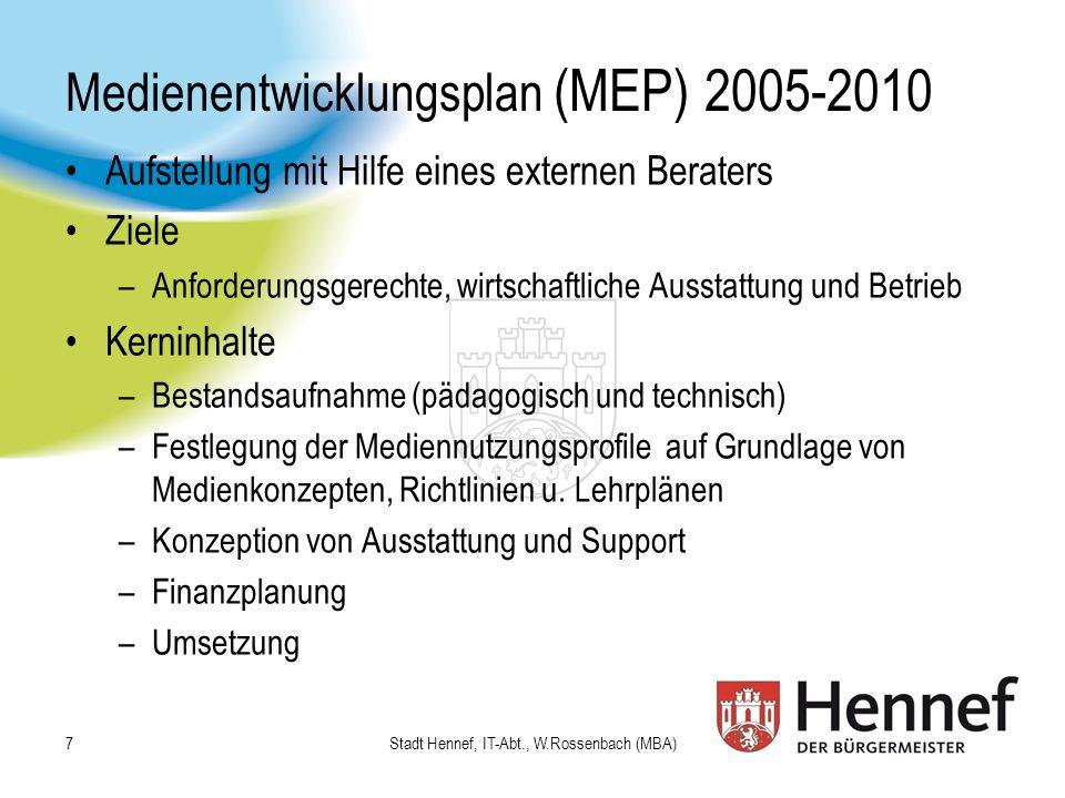 Medienentwicklungsplan (MEP) 2005-2010