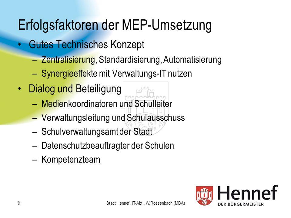 Erfolgsfaktoren der MEP-Umsetzung