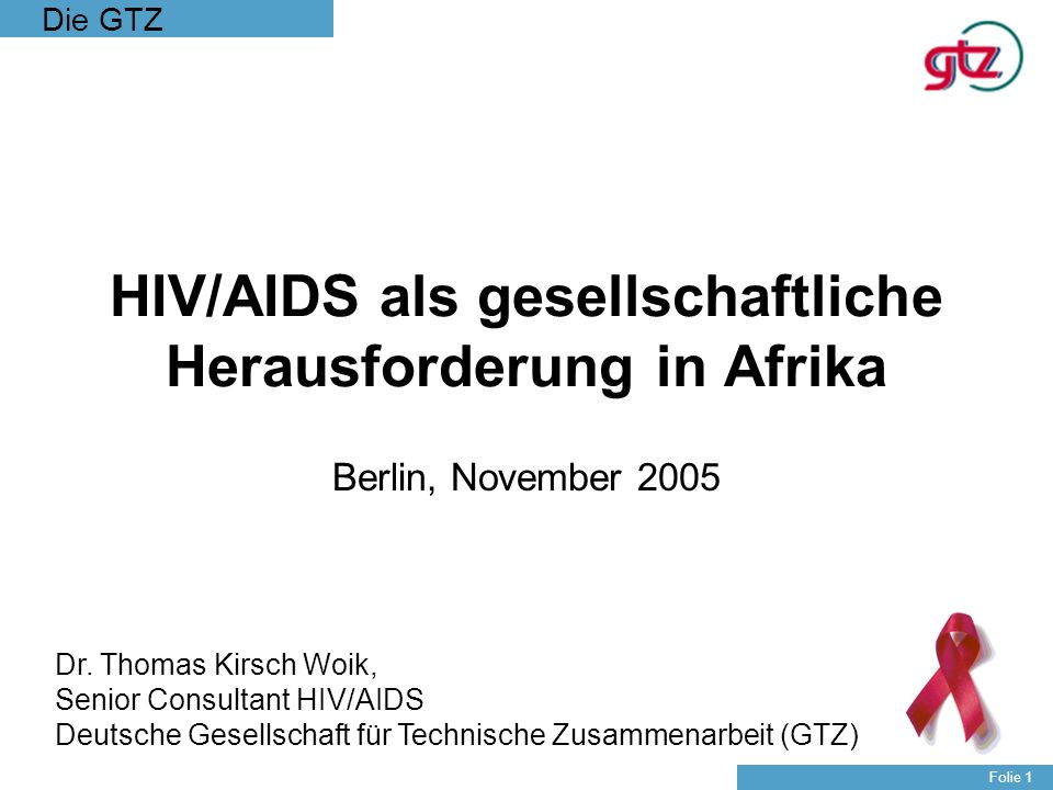 HIV/AIDS als gesellschaftliche Herausforderung in Afrika