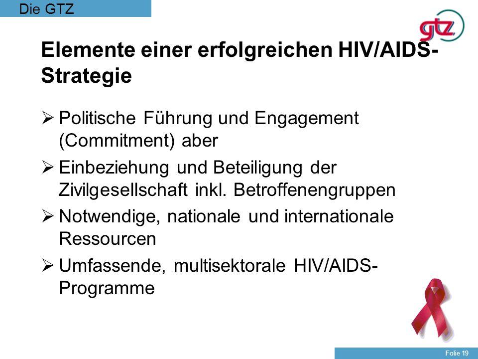 Elemente einer erfolgreichen HIV/AIDS-Strategie