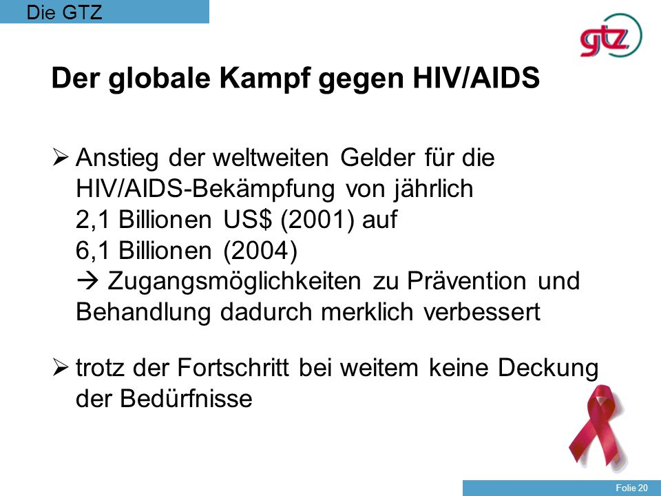 Der globale Kampf gegen HIV/AIDS