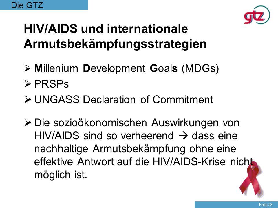 HIV/AIDS und internationale Armutsbekämpfungsstrategien