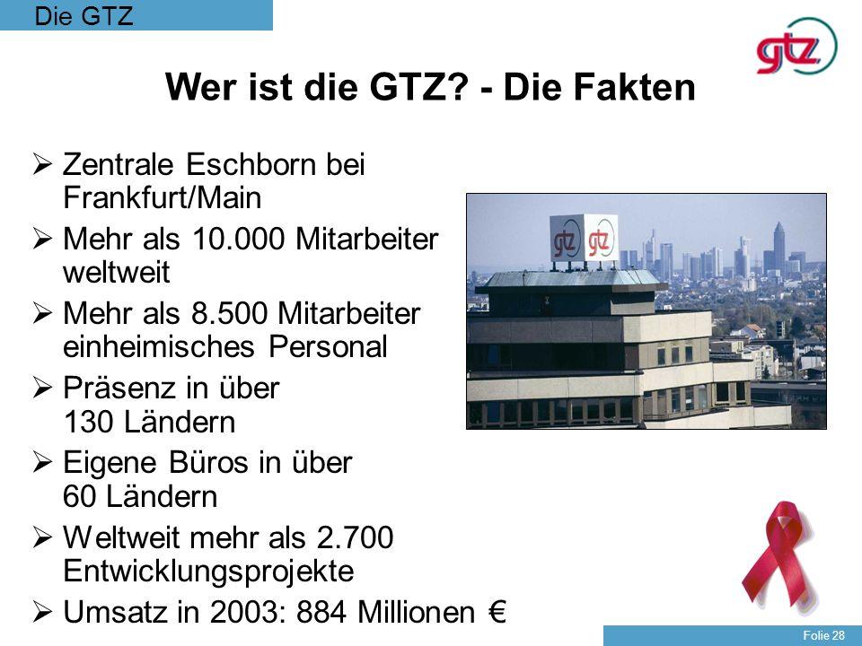Wer ist die GTZ - Die Fakten