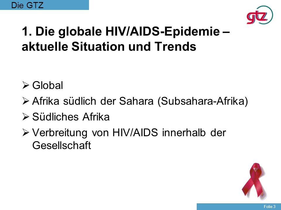 1. Die globale HIV/AIDS-Epidemie – aktuelle Situation und Trends