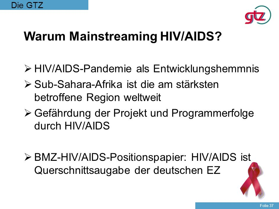 Warum Mainstreaming HIV/AIDS