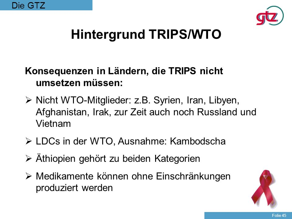Hintergrund TRIPS/WTO