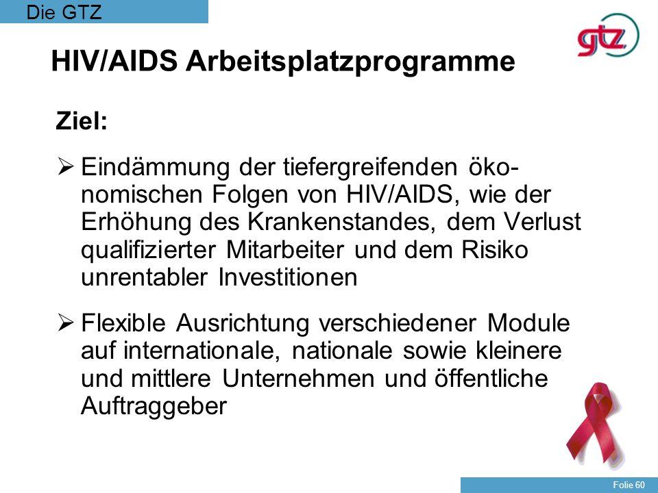 HIV/AIDS Arbeitsplatzprogramme