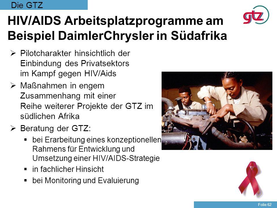 HIV/AIDS Arbeitsplatzprogramme am Beispiel DaimlerChrysler in Südafrika