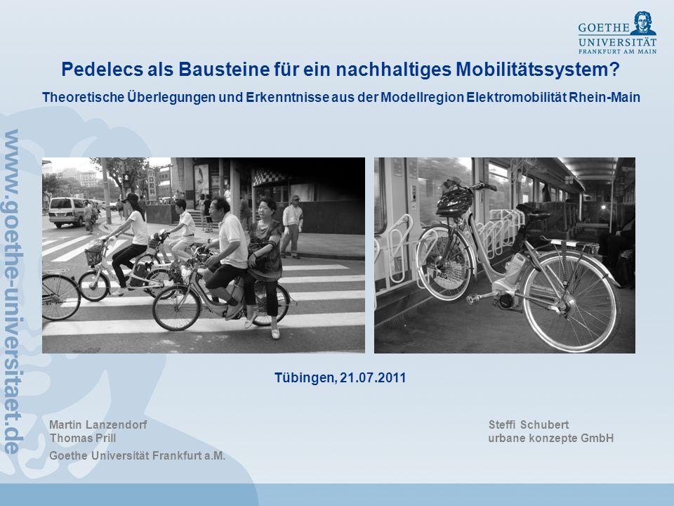 Pedelecs als Bausteine für ein nachhaltiges Mobilitätssystem