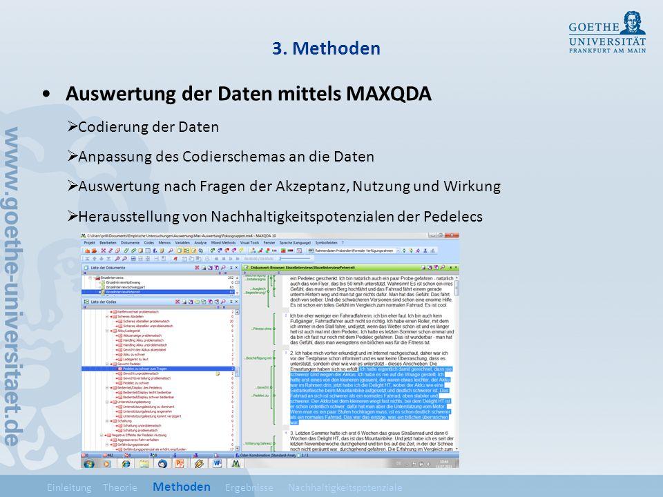 Auswertung der Daten mittels MAXQDA